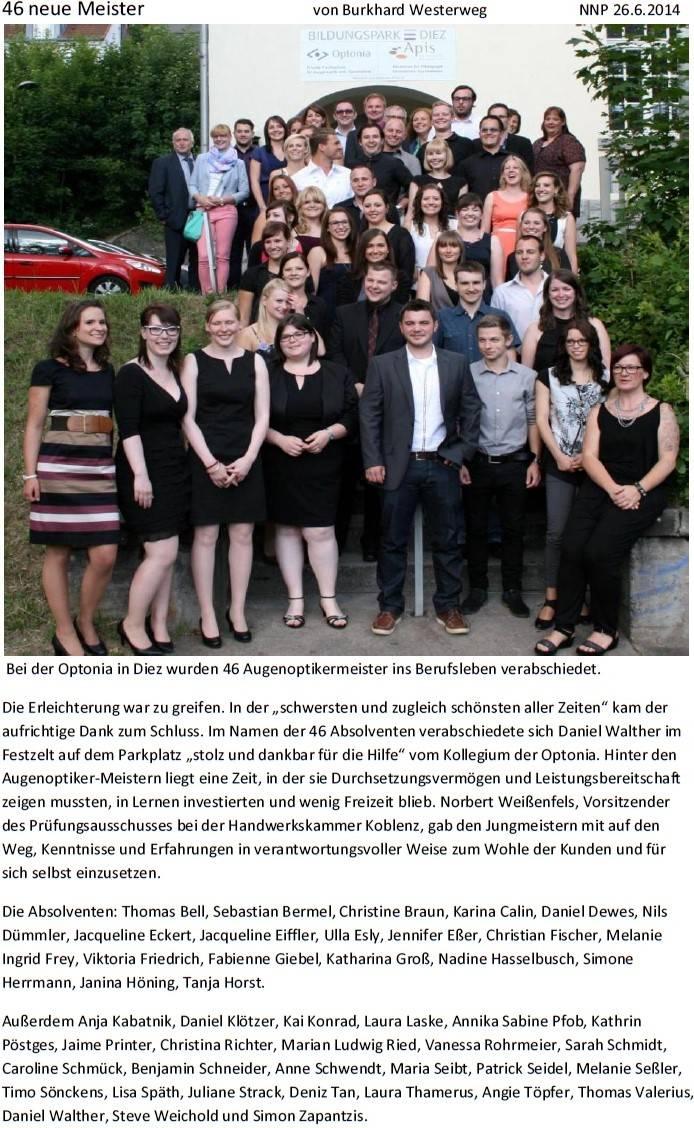 NNP 26.6.2014: 46 neue Meister