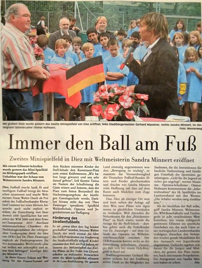 Pressebericht: DFB-Kleinfeldeinweihung