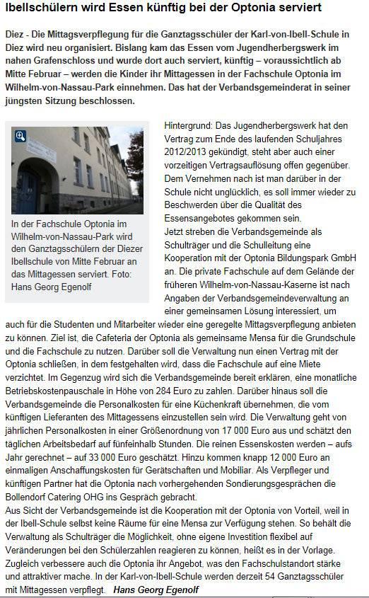 Rheinlahnzeitung 17. Dez. 2012