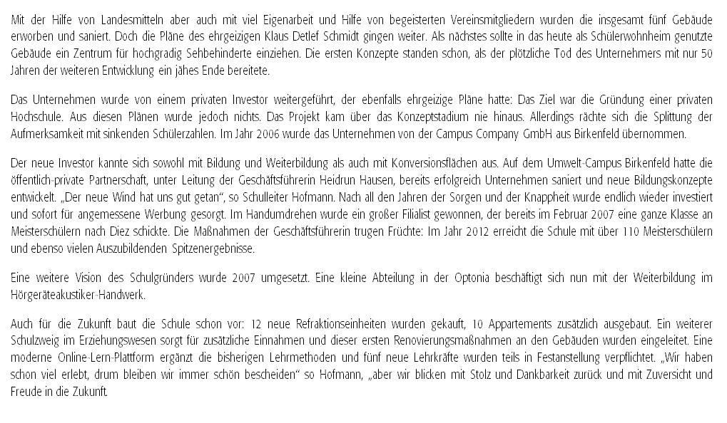Presseinformation: Optonia 25 Teil 2